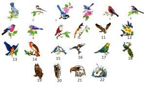 motyw ptaki